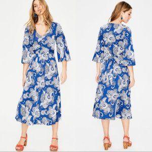 Boden Size 8 Louisa Riveria Blue Paisley Dress